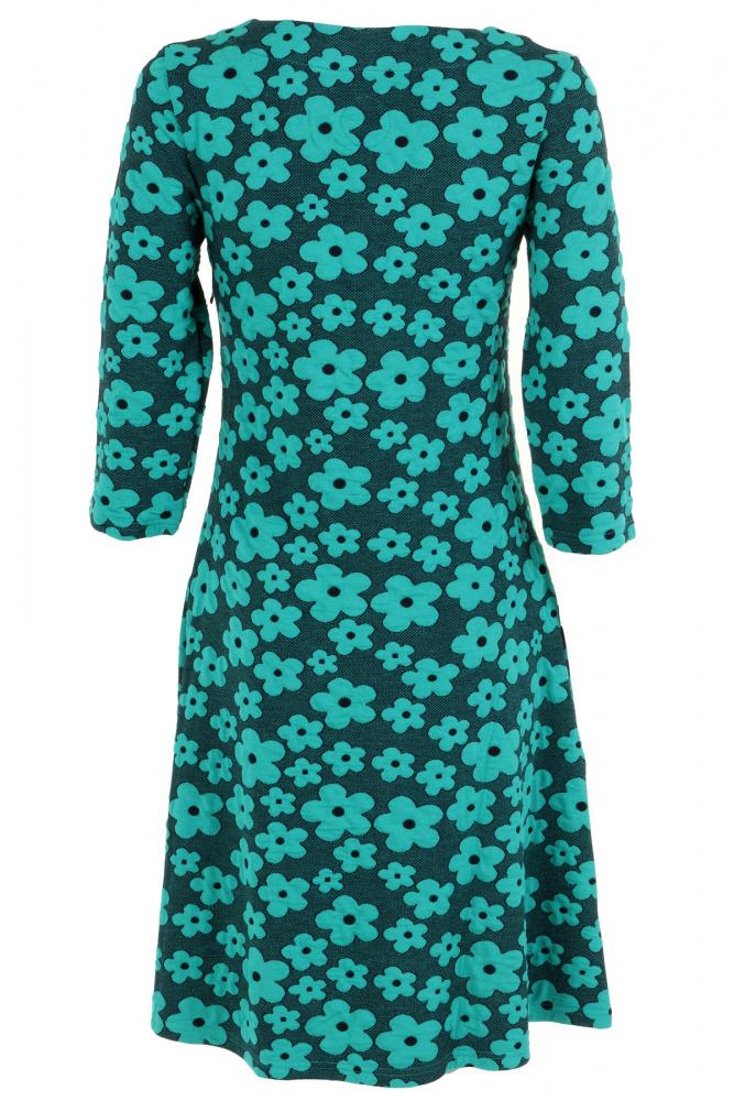 a85e0186 Turkis blomstret kjole