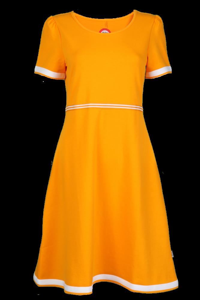 e3cd47a8 Gul og hvit kjole