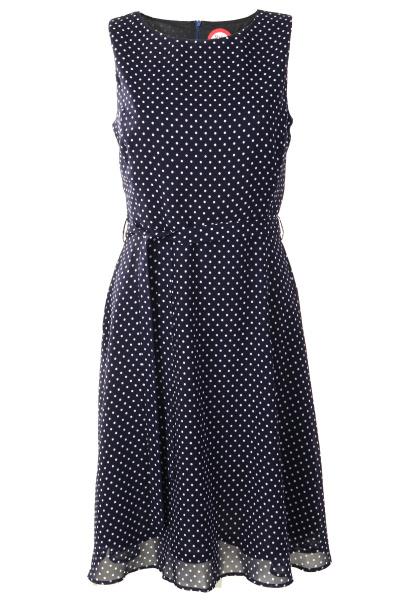 4d7d0e2c Blå prikket kjole