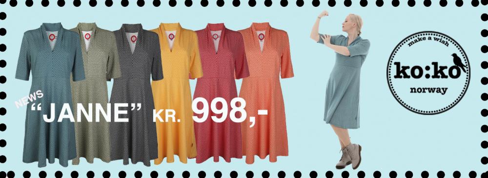 71e665a4 Oransje kjole