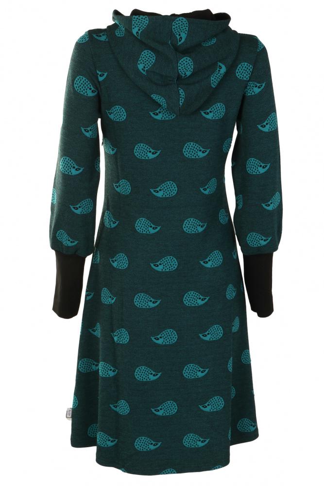 d8f9d0b7 Grønpetrol pinnsvin kjole; Grønpetrol pinnsvin kjole